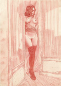 Sarah opening the doors - Adriano De Vincentiis